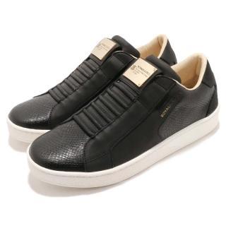 【ROYAL Elastics】休閒鞋 Adelaide 運動 男鞋 懶人鞋 低筒 皮革 經典 穿搭 球鞋 黑 白(02683990)  ROYAL Elastics