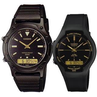【CASIO 卡西歐】運動雙顯男女對錶(AW-49HE-1A+AW-90H-9E)強力推薦  CASIO 卡西歐