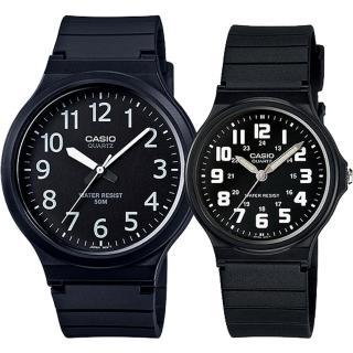 【CASIO 卡西歐】簡約時尚男女對錶(MW-240-1B+MQ-71-1B)強力推薦  CASIO 卡西歐