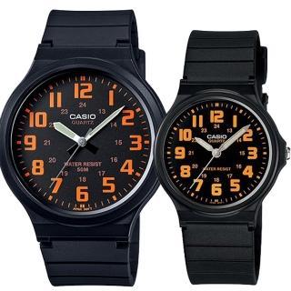 【CASIO 卡西歐】簡約時尚男女對錶(MW-240-4B+MQ-71-4B)  CASIO 卡西歐