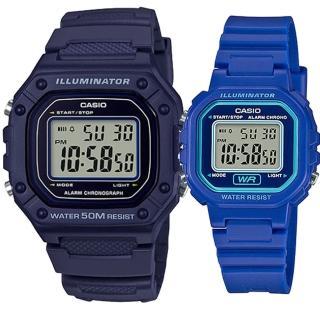 【CASIO 卡西歐】實用運動熱賣男女對錶(W-218H-2A+LA-20WH-2A)  CASIO 卡西歐