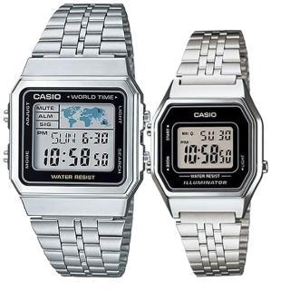 【CASIO 卡西歐】簡約時尚男女對錶(A-500WA-1+LA-680WA-1)好評推薦  CASIO 卡西歐