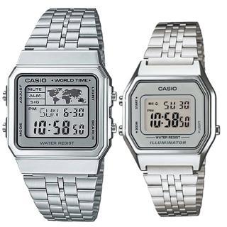 【CASIO 卡西歐】簡約時尚男女對錶(A-500WA-7+LA-680WA-7A)真心推薦  CASIO 卡西歐