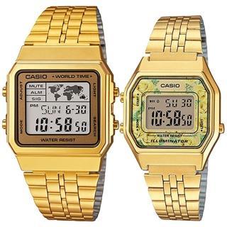 【CASIO 卡西歐】簡約時尚男女對錶(A-500WGA-9+LA-680WGA-9C)強力推薦  CASIO 卡西歐