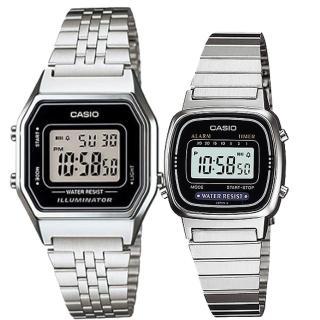 【CASIO 卡西歐】簡約時尚男女對錶(LA-680WA-1+LA-670WA-1)  CASIO 卡西歐
