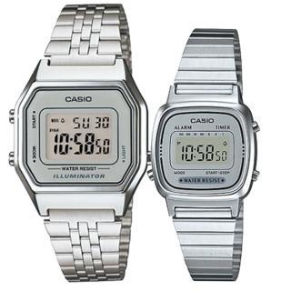 【CASIO 卡西歐】簡約時尚男女對錶(LA-680WA-7A+LA-670WA-7) 推薦  CASIO 卡西歐