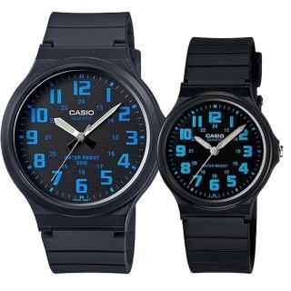 【CASIO 卡西歐】簡約時尚男女對錶(MW-240-2B+MQ-71-2B)強力推薦  CASIO 卡西歐