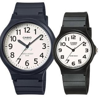 【CASIO 卡西歐】簡約時尚男女對錶(MW-240-7B+MQ-24-7B2)  CASIO 卡西歐