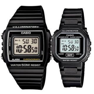 【CASIO 卡西歐】實用運動熱賣男女對錶(W-215H-1A+LA-20WH-1A) 推薦  CASIO 卡西歐