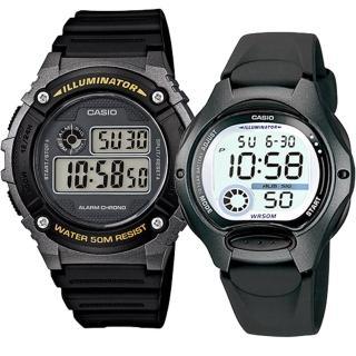 【CASIO 卡西歐】實用運動熱賣男女對錶(W-216H-1B+LW-200-1B)好評推薦  CASIO 卡西歐
