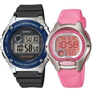 【CASIO 卡西歐】實用運動熱賣男女對錶(W-216H-2A+LW-200-4B)好評推薦  CASIO 卡西歐