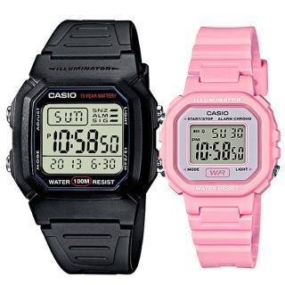 【CASIO 卡西歐】實用運動熱賣男女對錶(W-800H-1A+LA-20WH-4A1)推薦折扣  CASIO 卡西歐