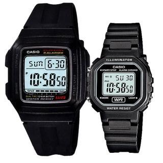 【CASIO 卡西歐】實用運動熱賣男女對錶(F-201WA-1A+LA-20WH-1A)好評推薦  CASIO 卡西歐