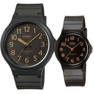 【CASIO 卡西歐】簡約時尚男女對錶(MW-240-1B2+MQ-24-1B2)強力推薦  CASIO 卡西歐