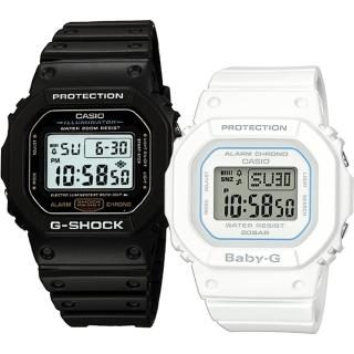 【CASIO 卡西歐】G-SHOCK+BABY-G 時尚潮流運動對錶(DW-5600E-1+BGD-560-7)真心推薦  CASIO 卡西歐