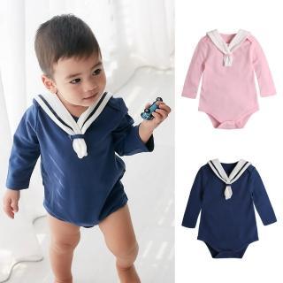 【Baby童衣】長袖海軍領包屁衣 82026(共2色)強力推薦  Baby童衣