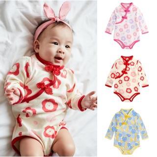 【Baby童衣】中國風斜襟盤扣旗袍式包屁衣 82051(共3色)  Baby童衣