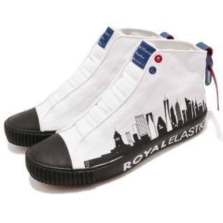 【ROYAL Elastics】休閒鞋 Harajuku 帆布 男鞋 都會圖騰 車輪鞋頭 球鞋 穿搭 白 黑(04783009)推薦折扣  ROYAL Elastics