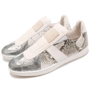 【ROYAL Elastics】休閒鞋 Smooth 時尚 男鞋 窄版 真皮 潮流 復古 球鞋 穿搭 銀 灰(01583880)  ROYAL Elastics