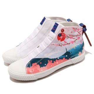 【ROYAL Elastics】休閒鞋 Harajuku 帆布 男鞋 聯名款 球鞋 富士山櫻花圖騰 白 粉(04783152)  ROYAL Elastics
