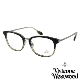 【Vivienne Westwood】英國Anglomania英倫簡約光學眼鏡(橫紋灰 AN346M03 12HR)  Vivienne Westwood