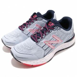 【NEW BALANCE】慢跑鞋 W680CG5D 寬楦 運動 女鞋 紐巴倫 路跑 輕量 透氣 舒適 避震 藍 粉(W680CG5D)  NEW BALANCE