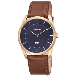 【LICORNE】力抗 平衡系列 經典美學手錶(藍/淺咖啡 LT129MKND)  LICORNE