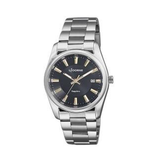 【LICORNE】力抗 都會款 簡約風格手錶(黑/銀LT132BWBI-K) 推薦  LICORNE