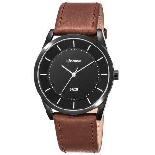 【LICORNE】力抗 平衡系列 經典美學手錶(黑x紅棕 LT129MBBD)  LICORNE