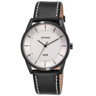 【LICORNE】力抗 平衡系列 經典美學手錶(白/黑 LT129MBWB)  LICORNE