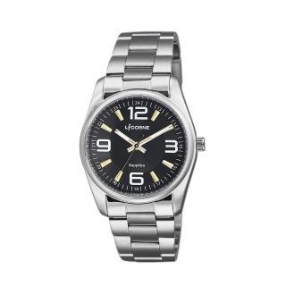 【LICORNE】力抗 都會款 簡約風格手錶(黑/銀 LT132BWBA)強力推薦  LICORNE