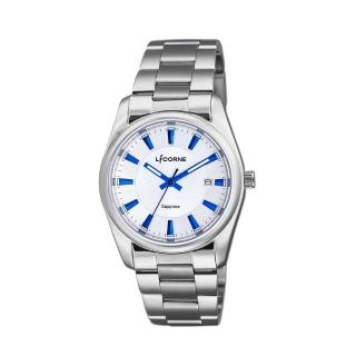 【LICORNE】力抗 都會款 簡約風格手錶(白/銀 LT132BWWI-N)  LICORNE