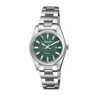 【LICORNE】力抗 都會款 簡約風格手錶(綠/銀 LT132LWGI-W) 推薦  LICORNE