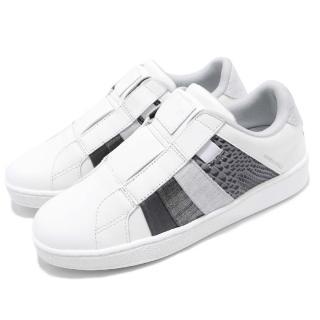 【ROYAL Elastics】休閒鞋 Prince Albert 運動 女鞋 低筒 懶人鞋 皮革 橡膠大底 穿搭 白 灰(91483080)強力推薦  ROYAL Elastics