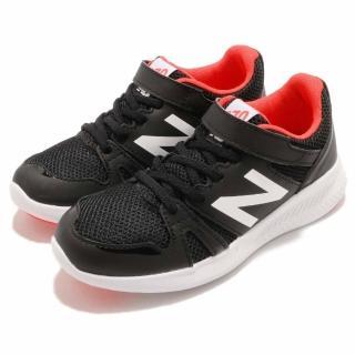 【NEW BALANCE】慢跑鞋 KV570BOYW 寬楦 運動 童鞋 紐巴倫 魔鬼氈 舒適 透氣 中童 黑 白(KV570BOYW)真心推薦  NEW BALANCE