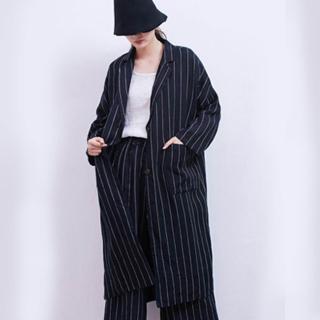 【A.Cheter】韓星首選寬鬆亞麻開襟條紋西裝外套102846#*(3色)  A.Cheter