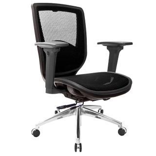 【吉加吉】短背全網 電腦椅 鋁腳/3D扶手(TW-81Z6LU9)  吉加吉