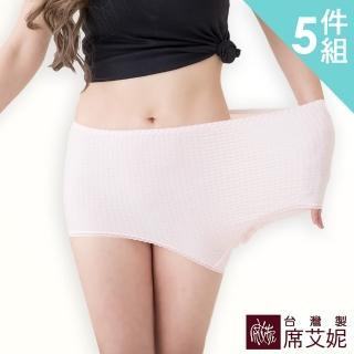【SHIANEY 席艾妮】女性媽媽褲中大尺碼內褲 台灣製造 No.921(五件組)好評推薦  SHIANEY 席艾妮
