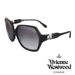 【Vivienne Westwood】英國薇薇安魏斯伍德 英倫龐克太陽眼鏡(黑色 VW788)強力推薦  Vivienne Westwood