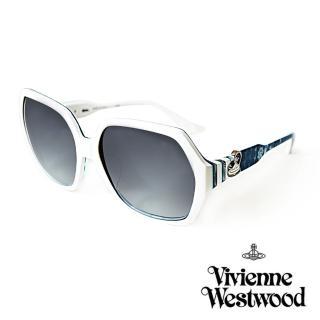 【Vivienne Westwood】英國薇薇安魏斯伍德 英倫龐克太陽眼鏡(海洋藍/白 VW788)強力推薦  Vivienne Westwood