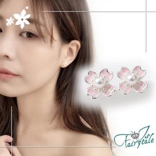 【伊飾童話】春之櫻花*亮麗銅鍍銀耳環  伊飾童話