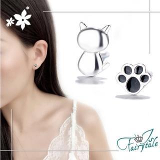 【伊飾童話】貓咪蓋手印*貼耳銅電鍍耳環  伊飾童話