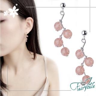 【伊飾童話】草莓氣泡*水晶珠銅電鍍耳環  伊飾童話