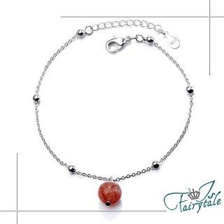 【伊飾童話】草莓氣泡*水晶珠銅電鍍手鍊好評推薦  伊飾童話