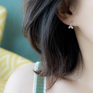 【梨花HaNA】韓國925銀清新森林豆苗勾勒耳環 推薦  梨花HaNA