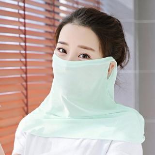 【幸福揚邑】360度防曬涼感抗UV口罩面罩2入組(淺綠)  幸福揚邑