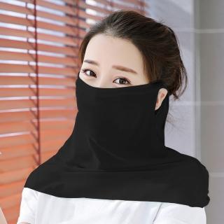 【幸福揚邑】360度防曬涼感抗UV口罩面罩2入組(黑)  幸福揚邑
