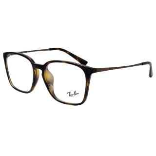 【RayBan 雷朋】RB7103D-2012 簡約百搭雷朋光學眼鏡(#琥珀)  RayBan 雷朋