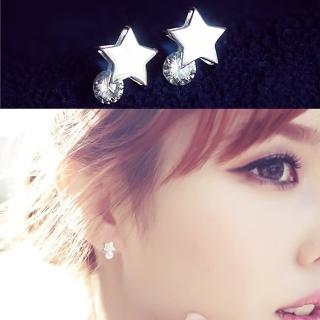 【梨花HaNA】韓國925銀流星灑落耀眼點鑽耳環真心推薦  梨花HaNA