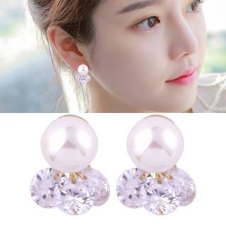 【梨花HaNA】無耳洞韓國簡單女孩單顆棉花珍珠耳環耳夾(耳夾)  梨花HaNA